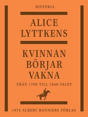 cover image of Kvinnan börjar vakna