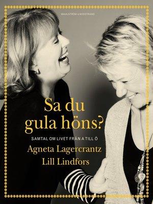 cover image of Sa du gula höns?