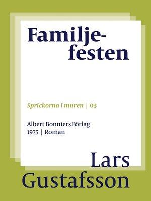 cover image of Familjefesten