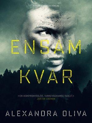 cover image of Ensam kvar
