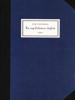 cover image of En ung författares dagbok