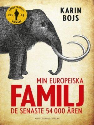 cover image of Min europeiska familj