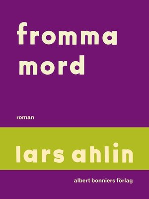 cover image of Fromma mord