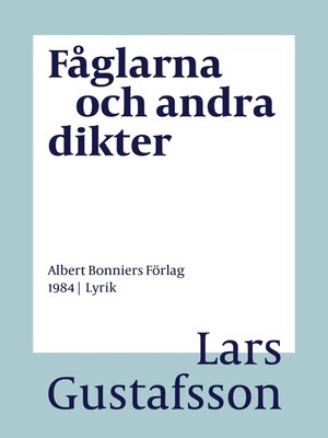 cover image of Fåglarna och andra dikter
