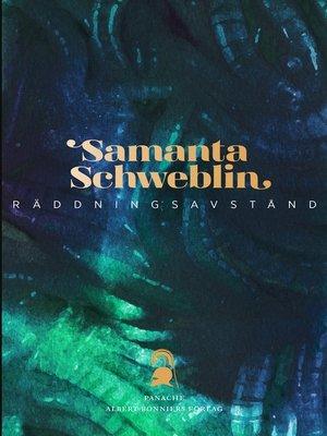 cover image of Räddningsavstånd