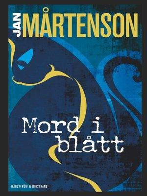 cover image of Mord i blått