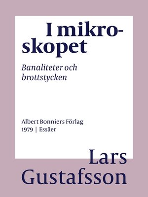 cover image of I mikroskopet
