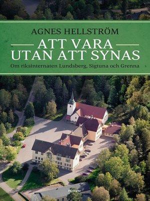 cover image of Att vara utan att synas
