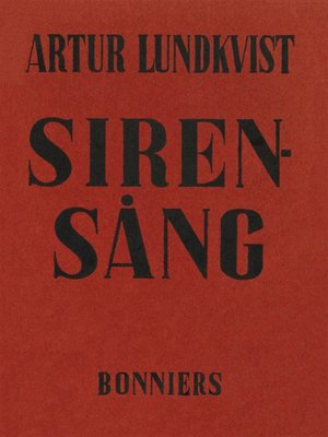cover image of Sirensång