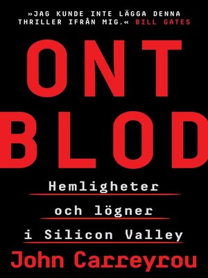 cover image of Ont blod