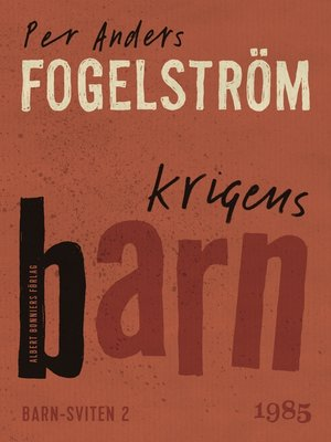 cover image of Krigens barn