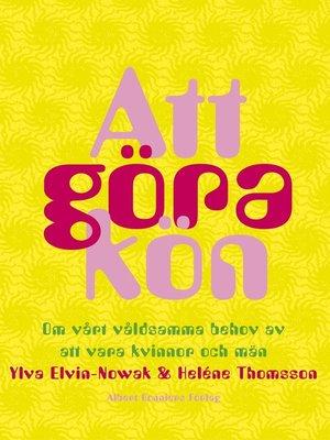 cover image of Att göra kön