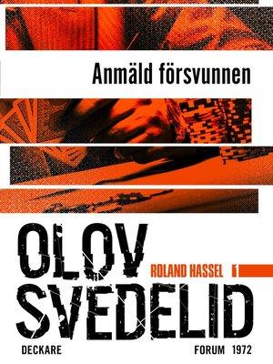cover image of Anmäld försvunnen