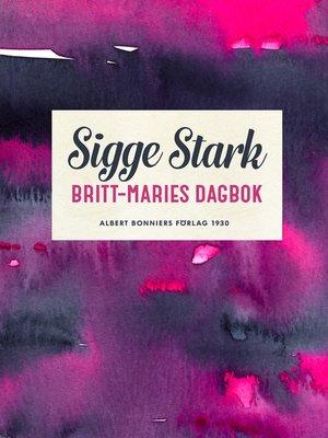 cover image of Britt-Maries dagbok