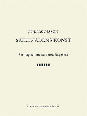 cover image of Skillnadens konst