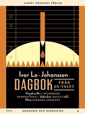 cover image of Dagbok från 20-talet