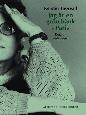cover image of Jag är en grön bänk i Paris