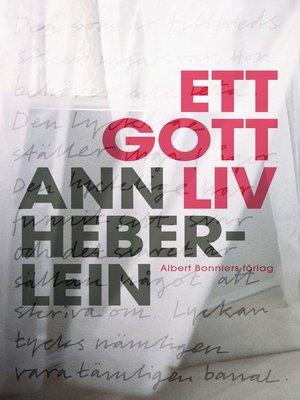 cover image of Ett gott liv