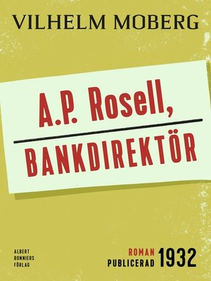 cover image of A.P. Rosell, bankdirektör