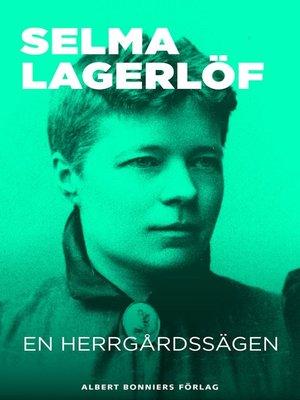 cover image of En herrgårdssägen