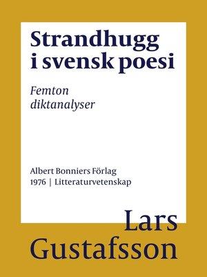 cover image of Strandhugg i svensk poesi