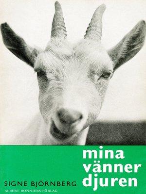 cover image of Mina vänner djuren