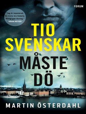 cover image of Tio svenskar måste dö