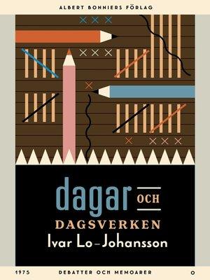 cover image of Dagar och dagsverken