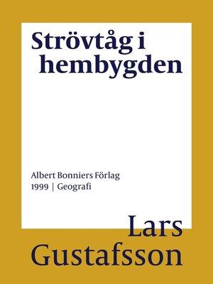 cover image of Strövtåg i hembygden