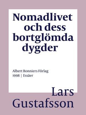 cover image of Nomadlivet och dess bortglömda dygder