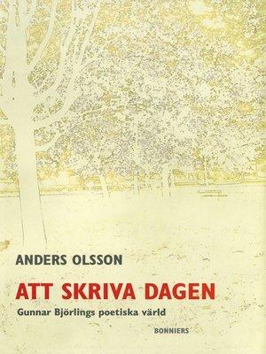 cover image of Att skriva dagen