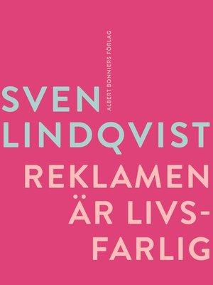 cover image of Reklamen är livsfarlig
