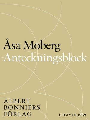 cover image of Anteckningsblock