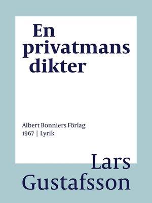 cover image of En privatmans dikter