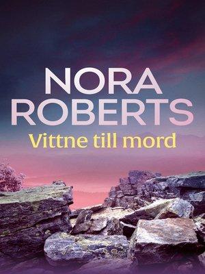 cover image of Vittne till mord