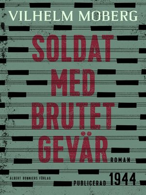 cover image of Soldat med brutet gevär