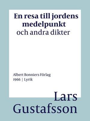 cover image of En resa till jordens medelpunkt och andra dikter