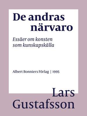 cover image of De andras närvaro