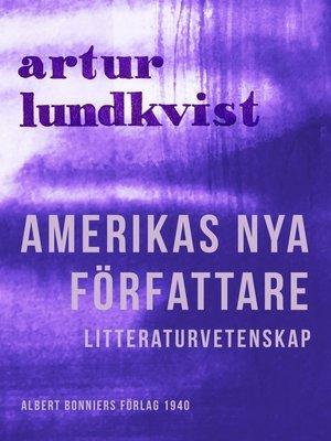cover image of Amerikas nya författare