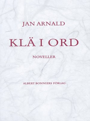 cover image of Klä i ord