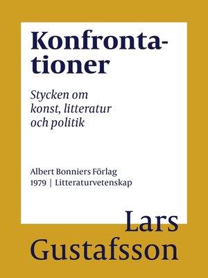 cover image of Konfrontationer