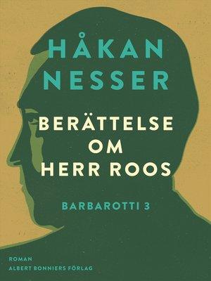 cover image of Berättelse om herr Roos