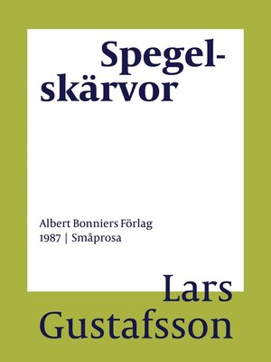cover image of Spegelskärvor