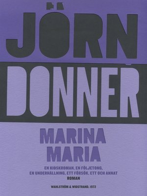 cover image of Marina Maria