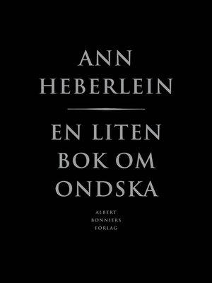 cover image of En liten bok om ondska