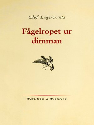 cover image of Fågelropet ur dimman
