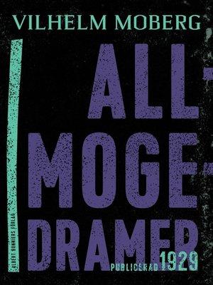 cover image of Allmogedramer