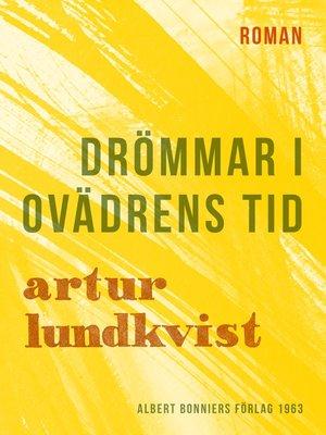 cover image of Drömmar i ovädrens tid