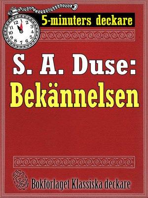 cover image of Bekännelsen. Brottmålshistoria