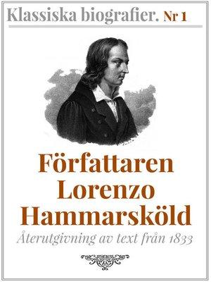 cover image of Författaren Lorenzo Hammarsköld